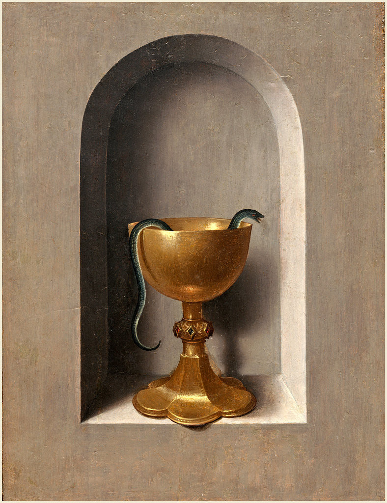 Detail of Chalice of Saint John the Evangelist by Hans Memling