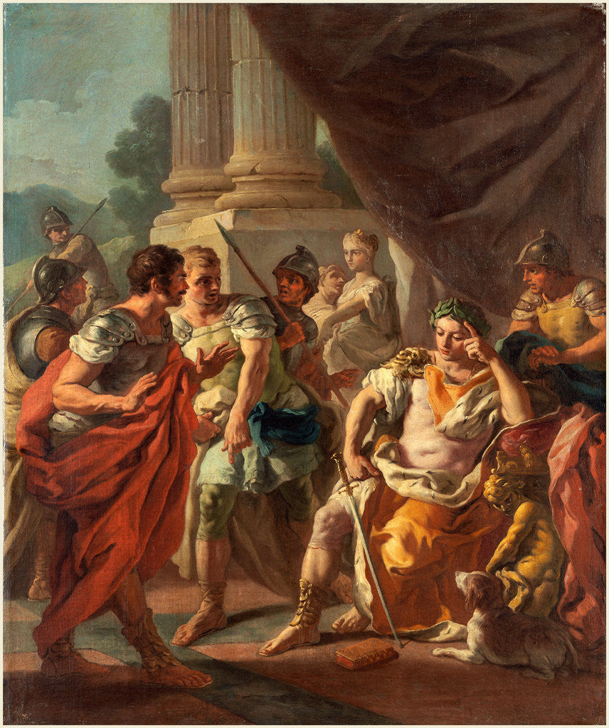 Detail of Alexander Condemning False Praise, 1760s by Francesco de Mura