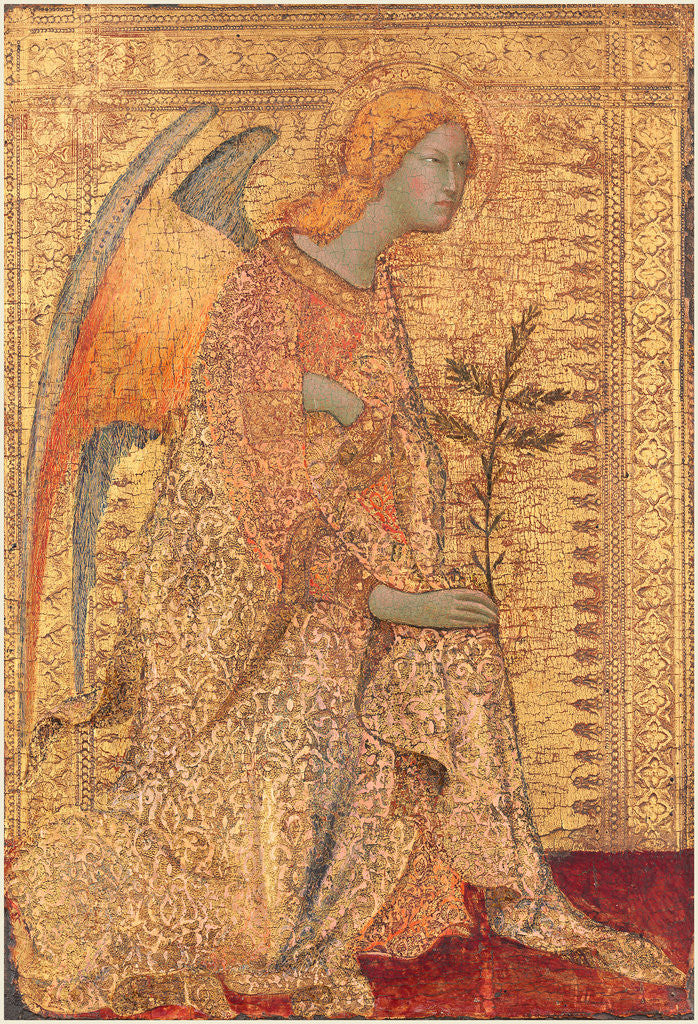 Detail of The Angel of the Annunciation by Simone Martini