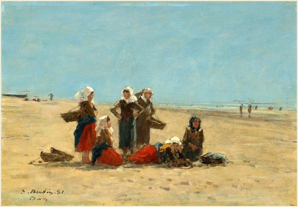 Detail of Women on the Beach at Berck, 1881 by Eugène Boudin