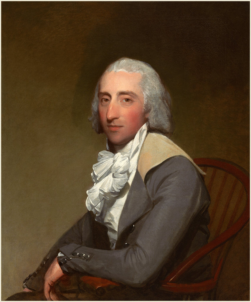 Detail of American, Lawrence Reid Yates by Gilbert Stuart
