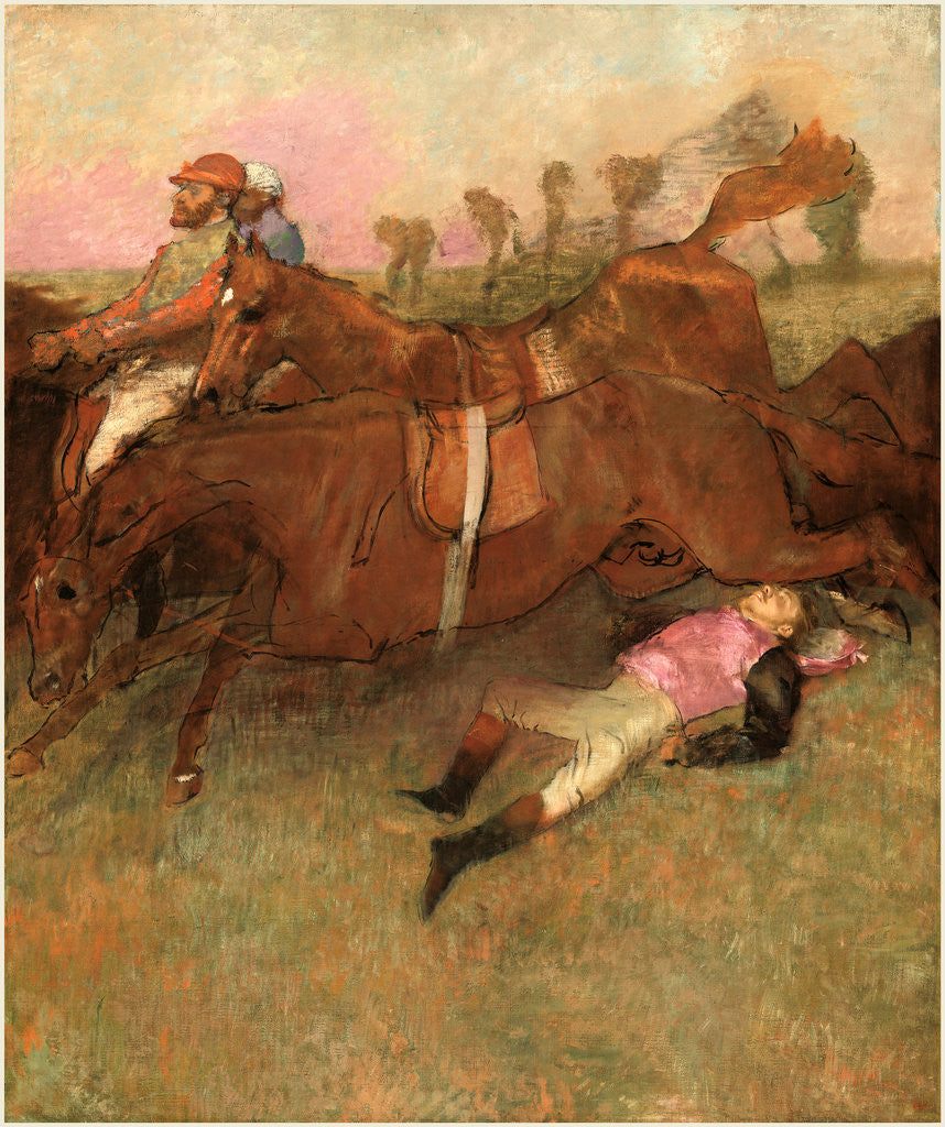 Detail of Scene from the Steeplechase: The Fallen Jockey, 1866, reworked 1880-1881 and c. 1897 by Edgar Degas