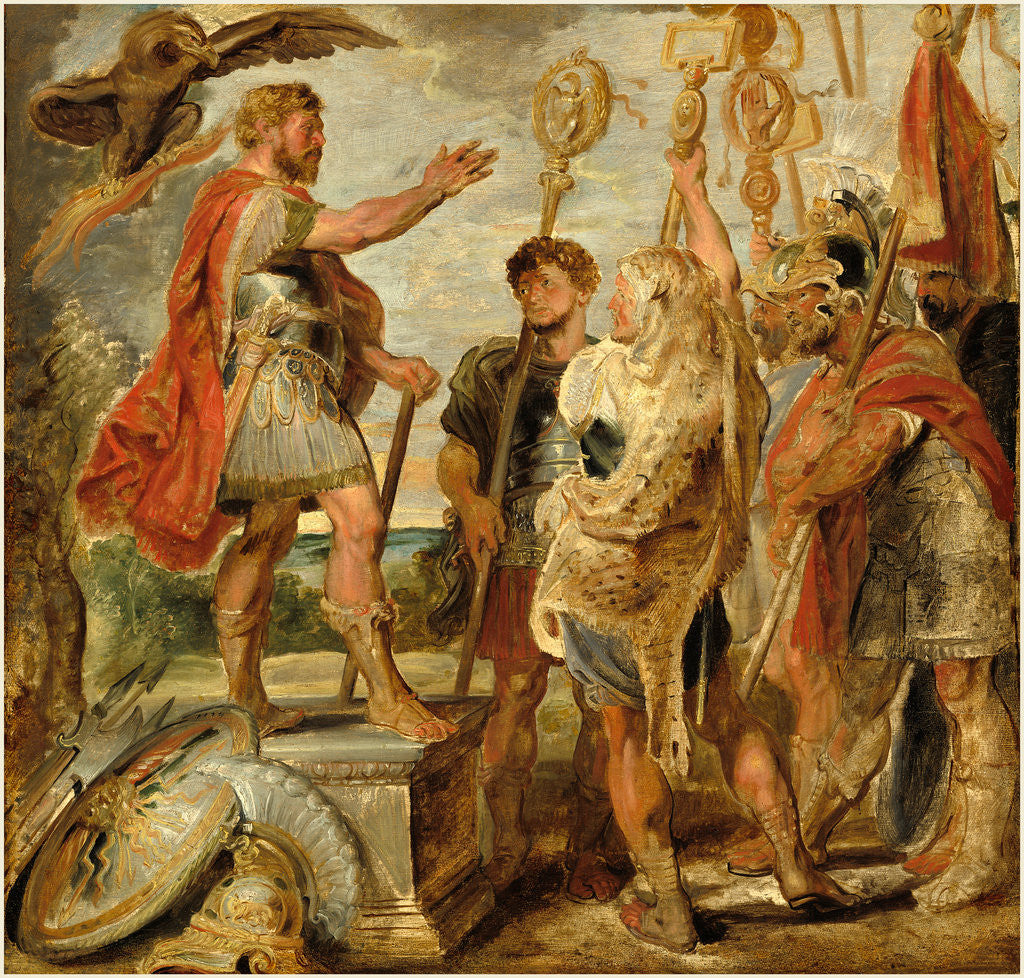 Detail of Decius Mus Addressing the Legions by Sir Peter Paul Rubens