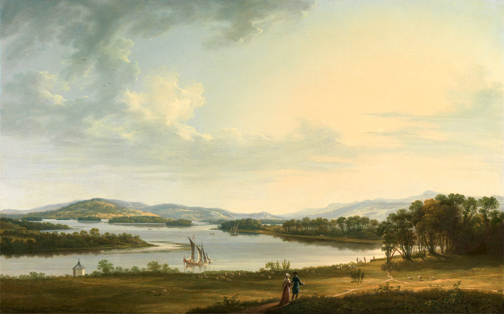 Detail of Knock Ninney and Lough Erne from Bellisle, County Fermanagh, Ireland by Thomas Roberts