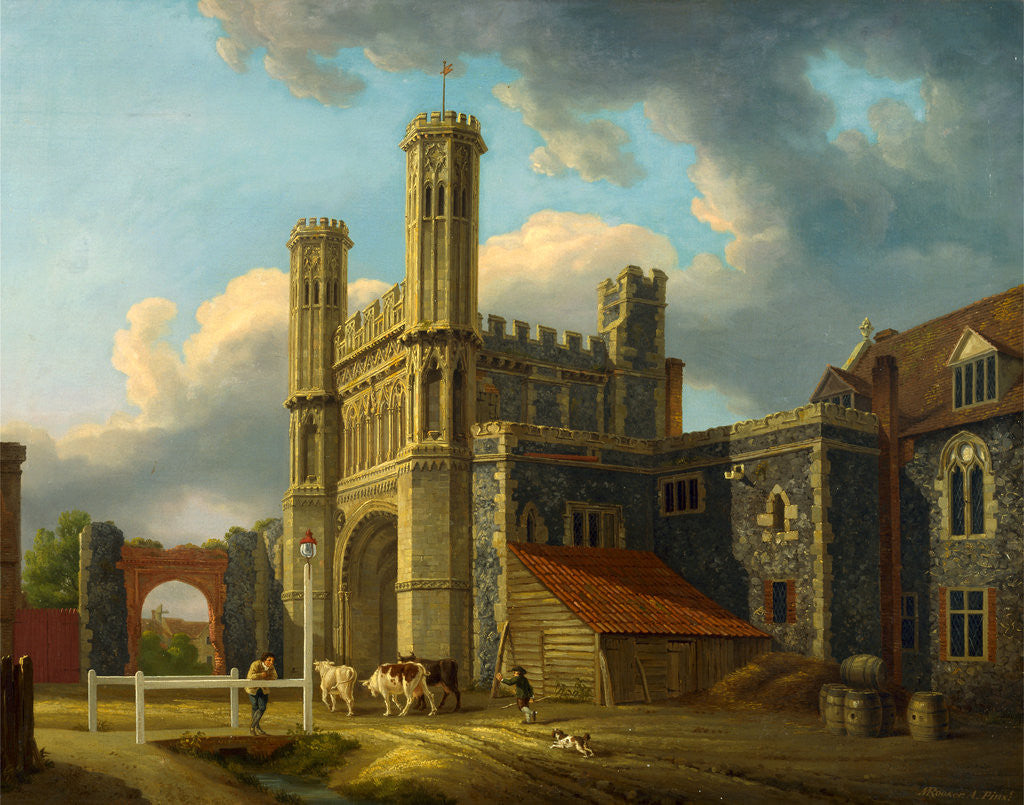 Detail of St. Augustine's Gate, Canterbury by Michael 'Angelo' Rooker