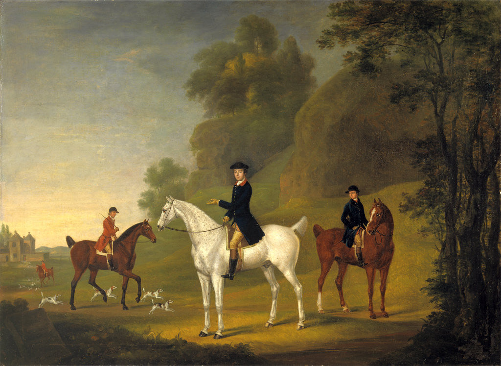 Detail of Lord Bulkeley and his Harriers, his Huntsman John Wells and Whipper-In R. Jennings Lord Bulkeley and his Hunt Servants by Thomas Stringer