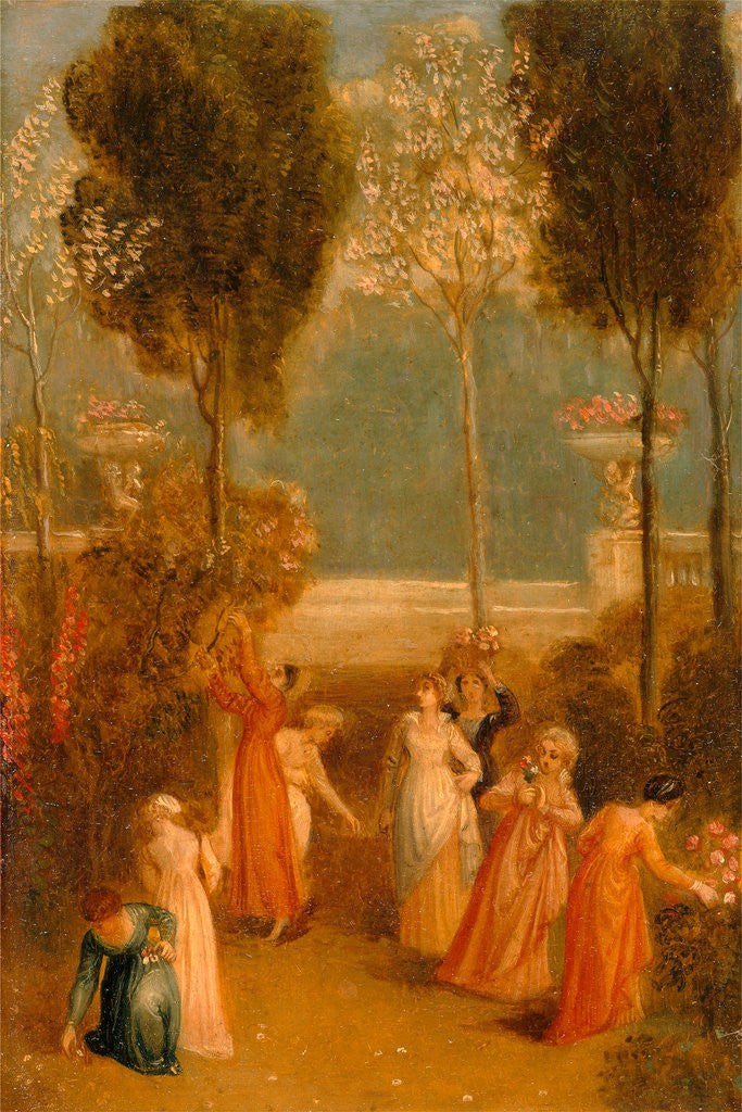 Detail of The Garden by Thomas Stothard