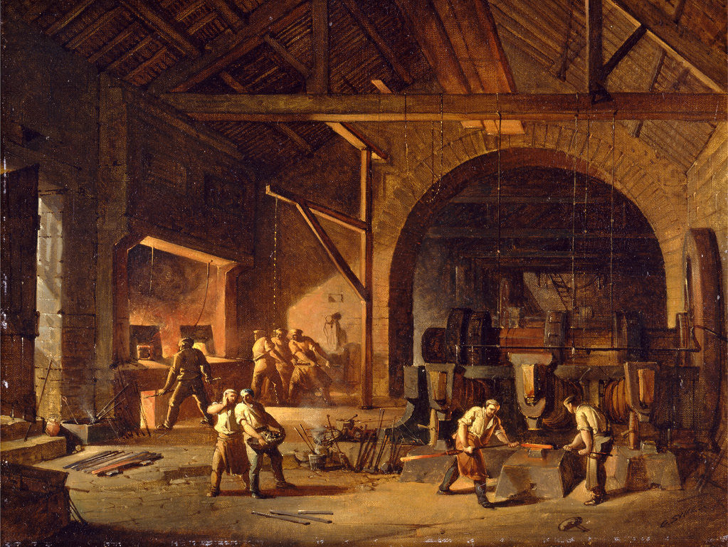 Detail of Interior of an Ironworks by Godfrey Sykes