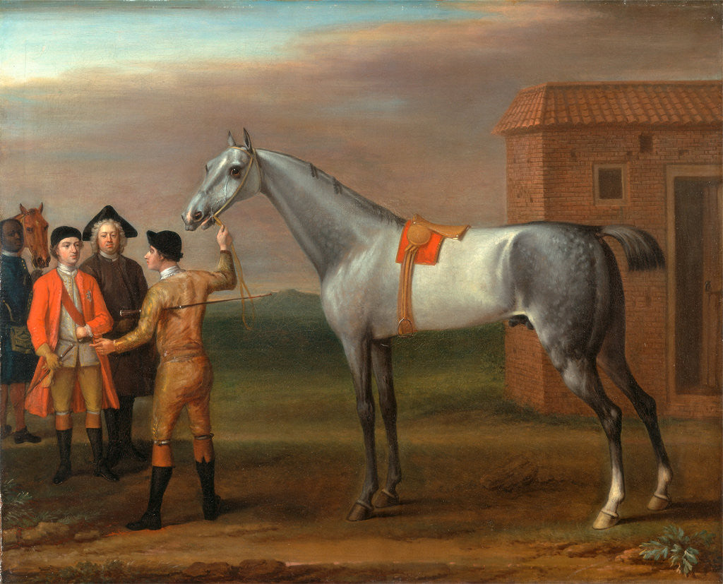 Detail of Lamprey, with His Owner Sir William Morgan, at Newmarket Lamprey at Newmarket by John Wootton