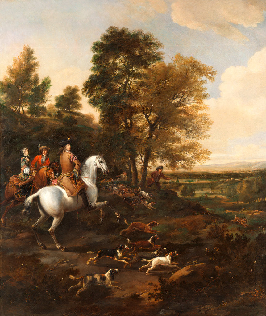 Detail of Hare Hunting by Jan Wyck