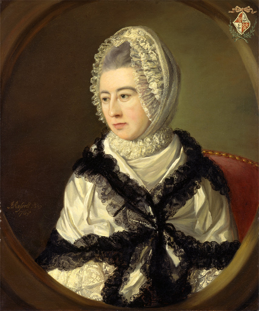 Detail of Portrait of a Lady by John Russell