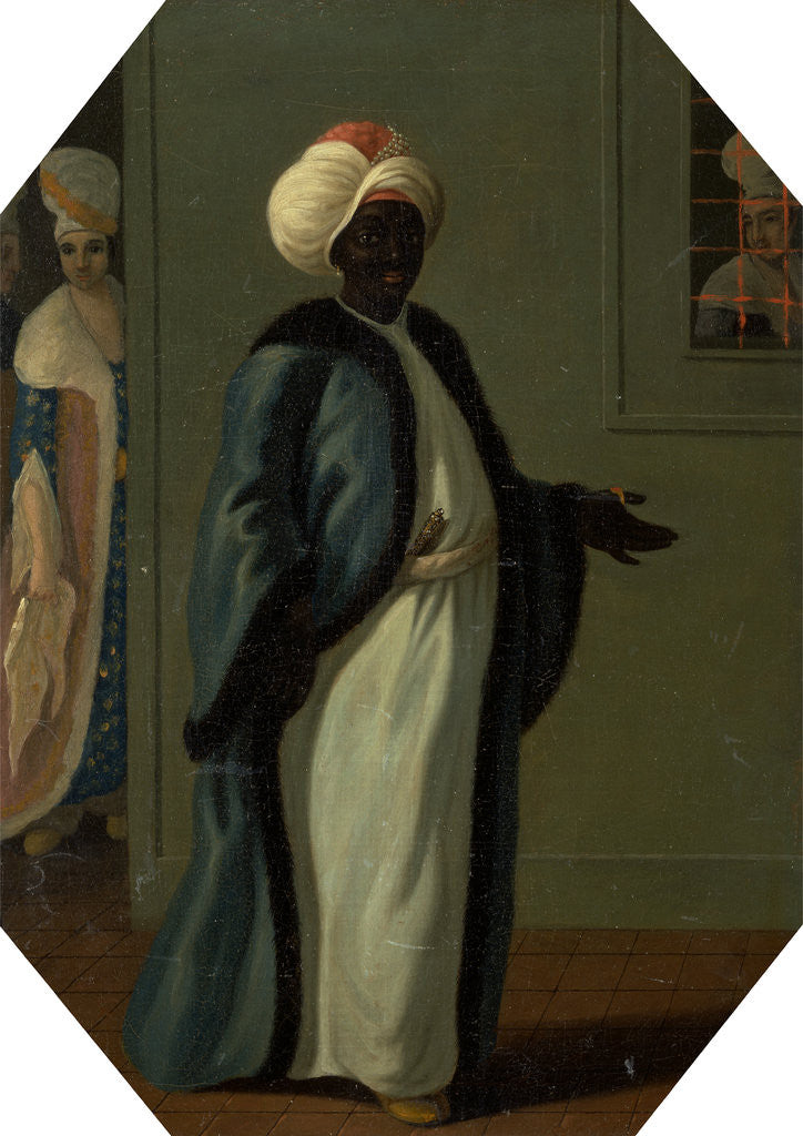 Detail of Kisler Aga, Chief of the Black Eunuchs and First Keeper of the Serraglio by Francis Smith