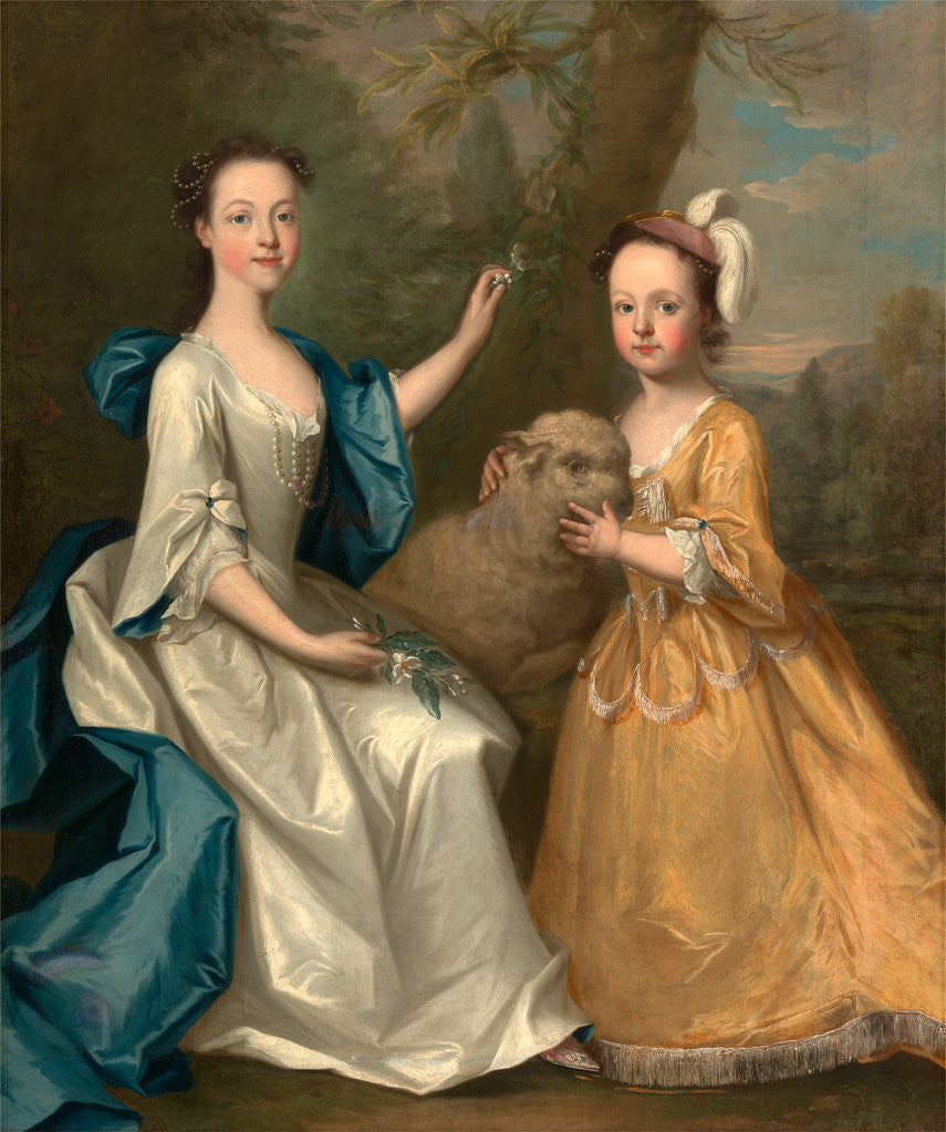 Detail of Young Women with a Lamb by Thomas Hudson