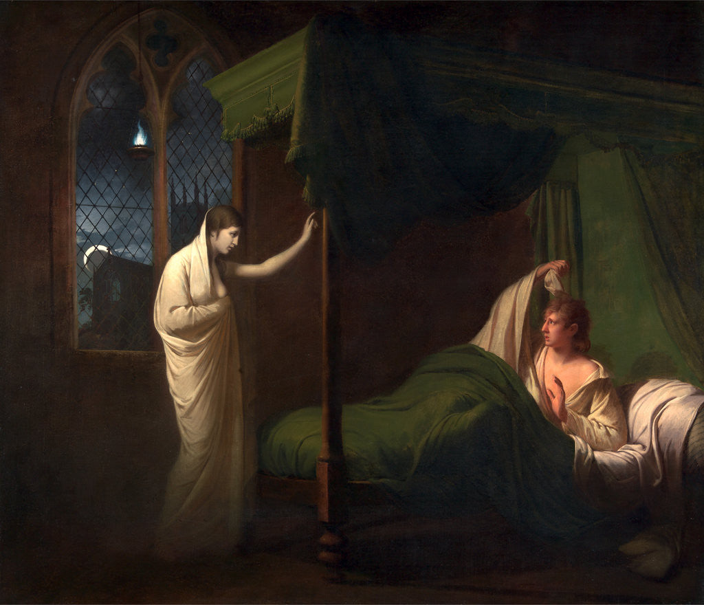 Detail of William and Margaret from Percy's 'Reliques of Ancient English Poetry' by Joseph Wright of Derby