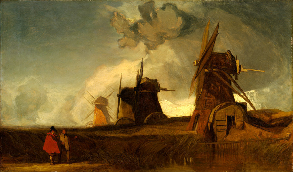 Detail of Drainage Mills in the Fens, Croyland, Lincolnshire by John Sell Cotman