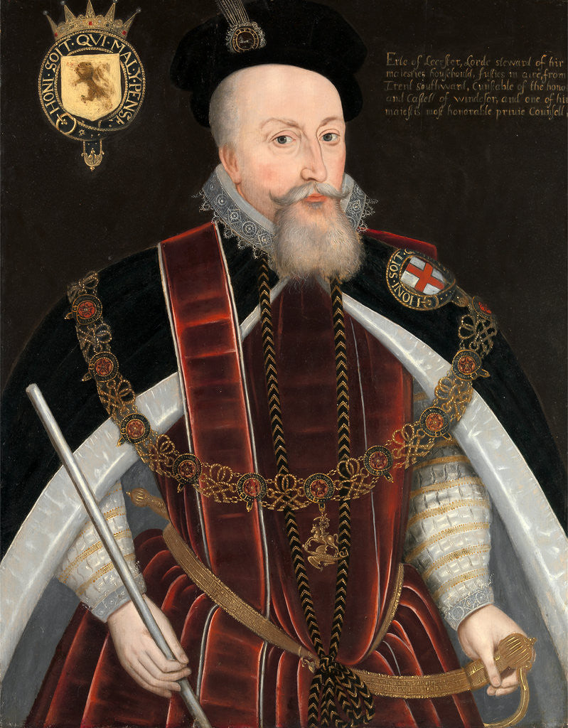 Detail of Robert Dudley, Earl of Leicester by Anonymous