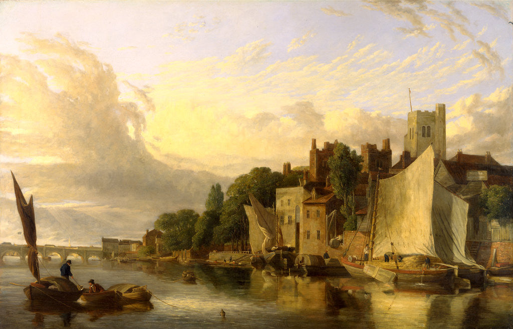 Detail of Lambeth from the River looking towards Westminster Bridge, London by James Stark
