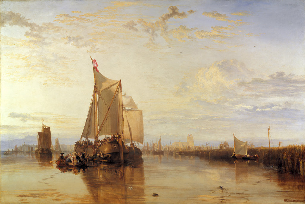 Detail of Dort or Dordrecht: The Dort packet-boat from Rotterdam, The Netherlands becalmed by Joseph Mallord William Turner