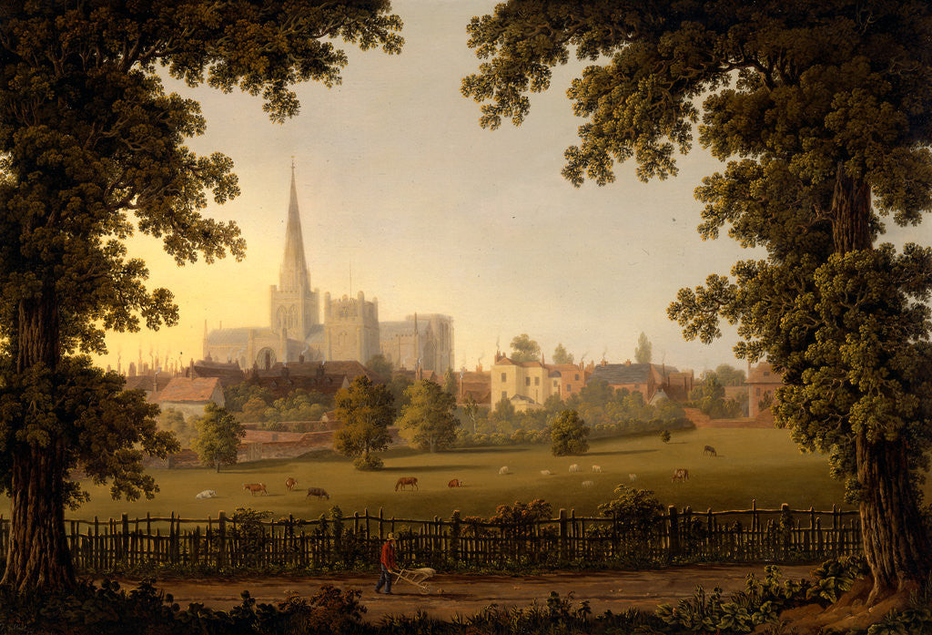Detail of Chichester Cathedral by Joseph Francis Gilbert