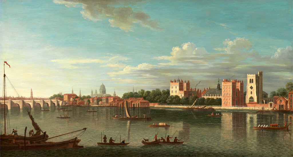 Detail of Thames at Lambeth Palace, London by Anonymous