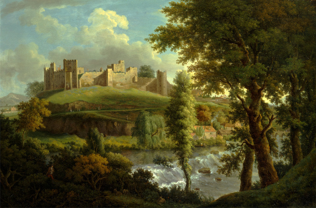 Detail of Ludlow Castle with Dinham Weir, from the South-West, Samuel Scott, ca. 1702-1772 by Samuel Scott