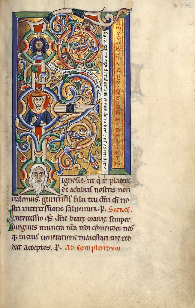 Detail of Initial F: The Tree of Jesse by Anonymous