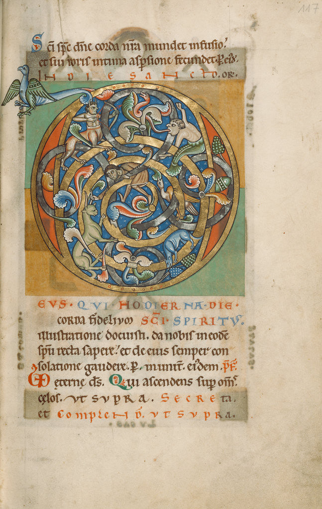 Detail of Inhabited Initial D by Anonymous