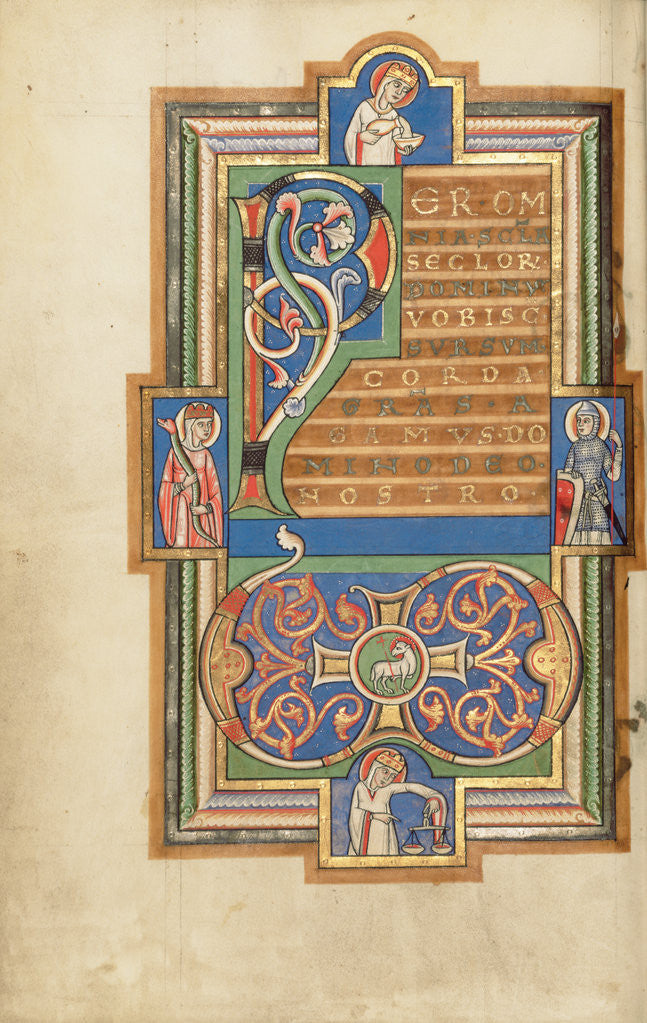 Detail of Decorated Text Page with a VD Monogram by Anonymous