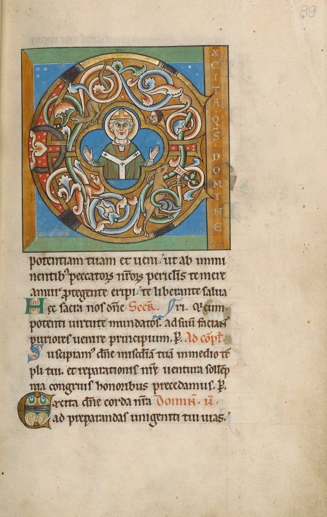 Detail of Initial E: An Archbishop by Anonymous