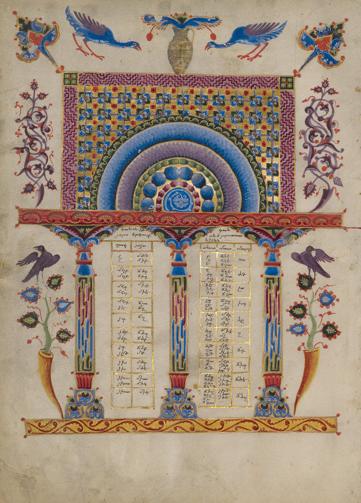 Detail of Canon Table Page by T'oros Roslin