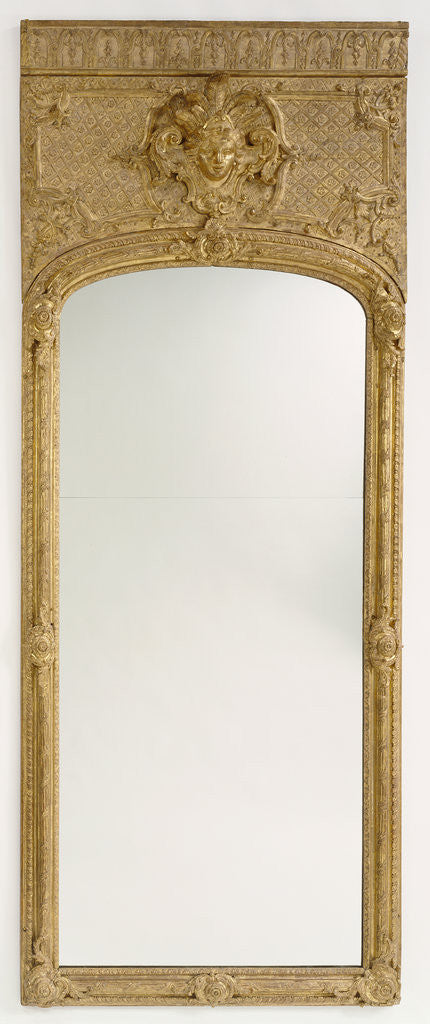Detail of Antique frame with modern mirror glass by Anonymous