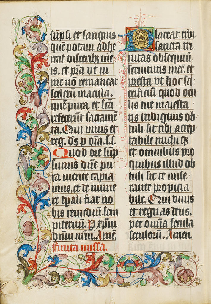 Detail of Decorated Text Page by Anonymous