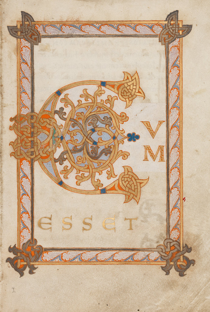 Detail of Decorated Initial C by Anonymous