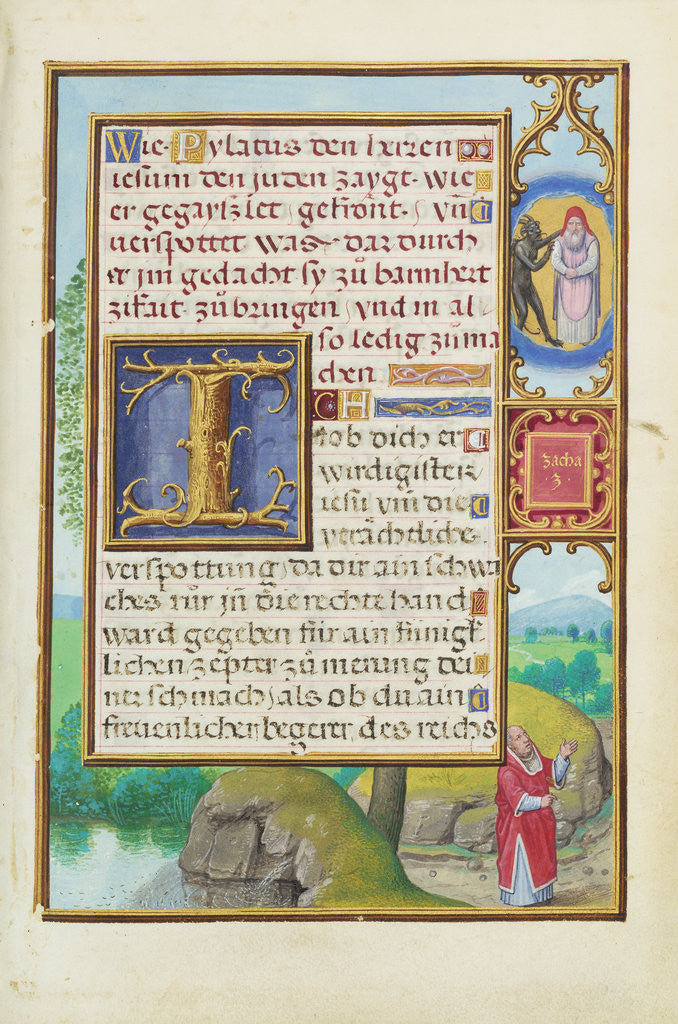 Detail of Border with Zechariah's Vision of the High Priest and the Devil by Simon Bening