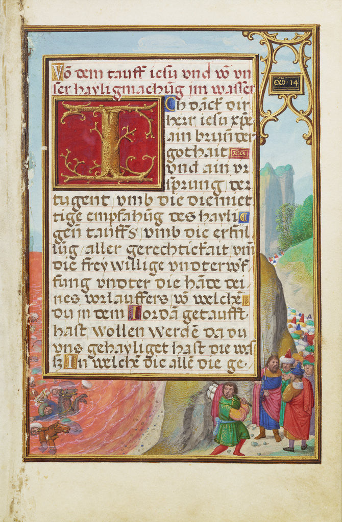Detail of Border with the Crossing of the Red Sea by Simon Bening