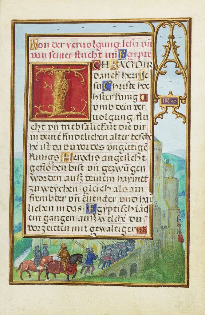 Detail of Border with Michal Helping David to Escape from Saul by Simon Bening