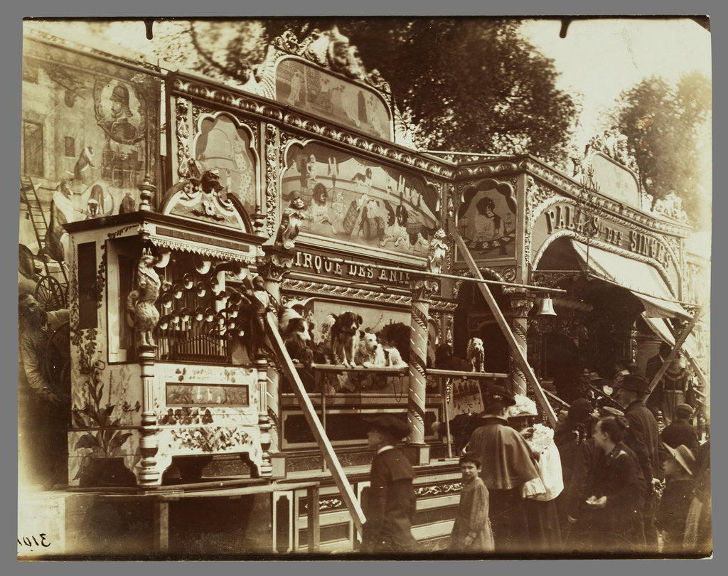 Detail of Fête des Invalides (Dog Show at a Street Fair) by Eugène Atget