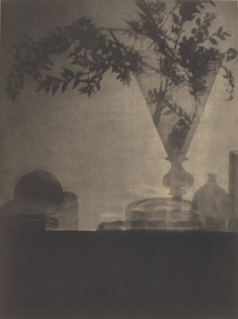 Detail of Glass and Shadows by Baron Adolf De Meyer