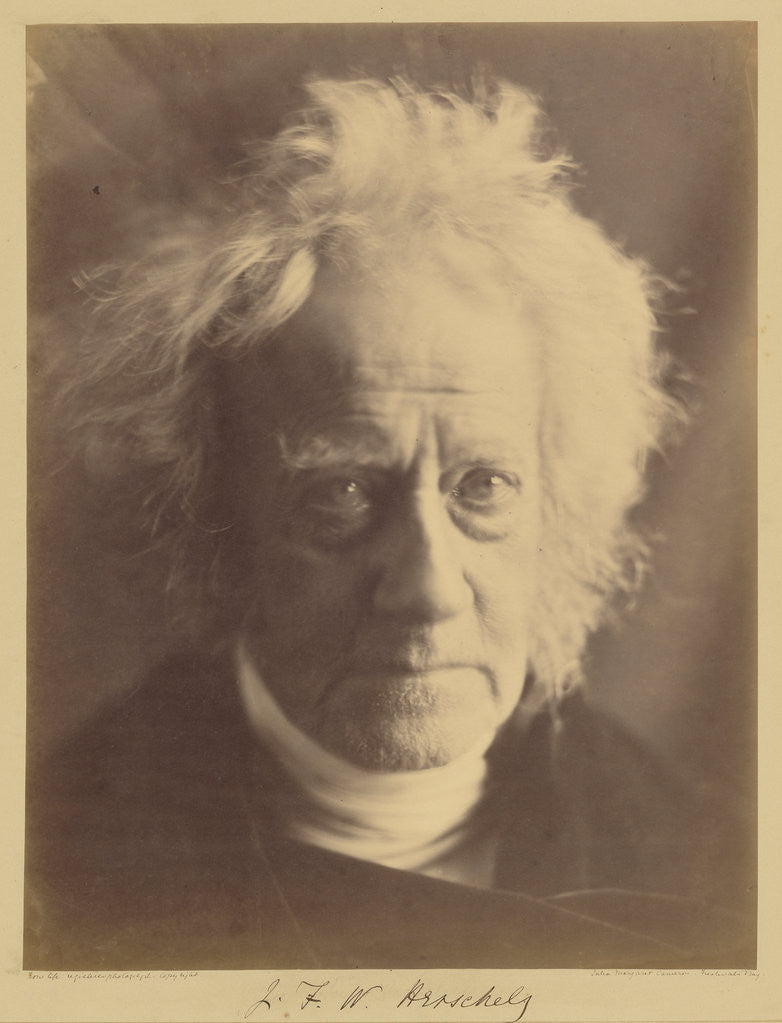 Detail of J.F.W. Herschel by Julia Margaret Cameron