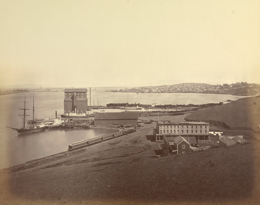 Detail of City of Vallejo from South Vallejo by Carleton Watkins