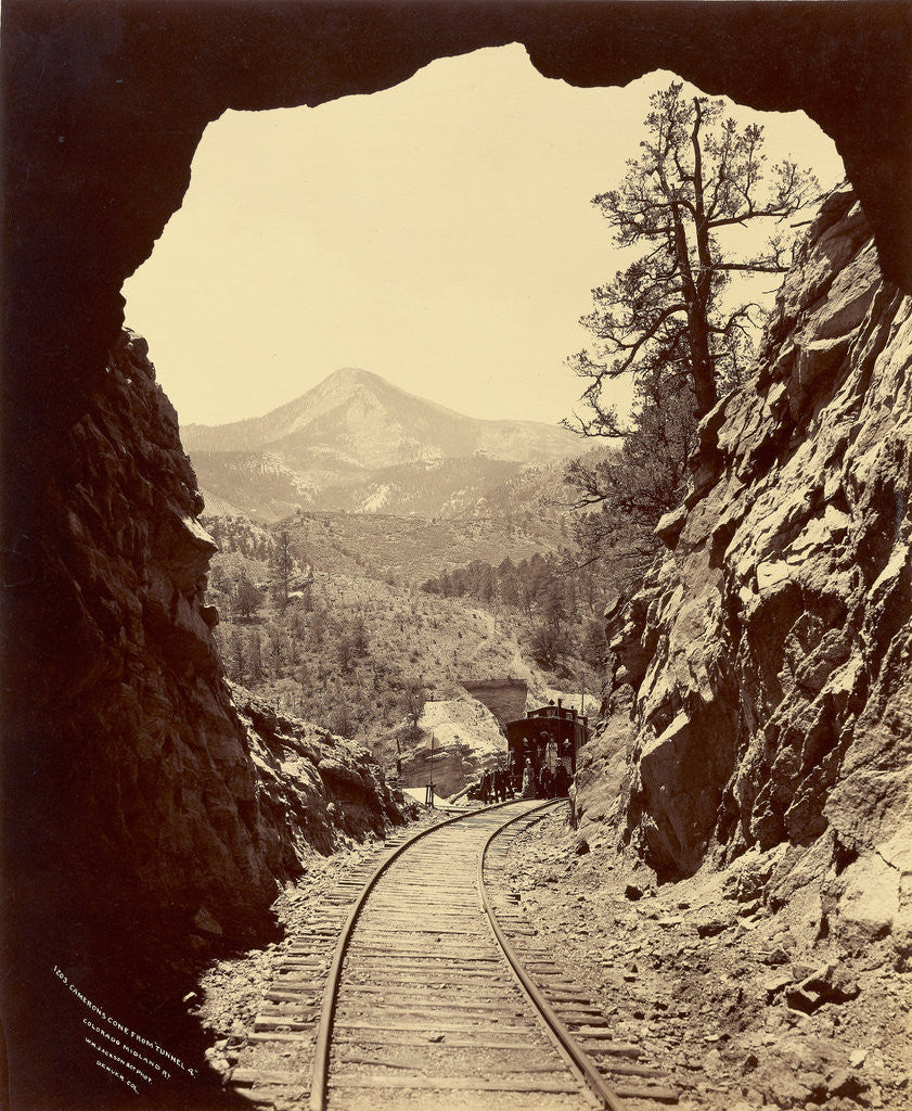 Detail of Cameron's Cone from Tunnel 4, Colorado Midland Railway by William Henry Jackson