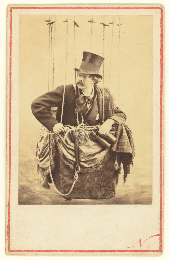 Detail of Felix Nadar in the Gondola of a Balloon by Nadar [Gaspard Félix Tournachon]