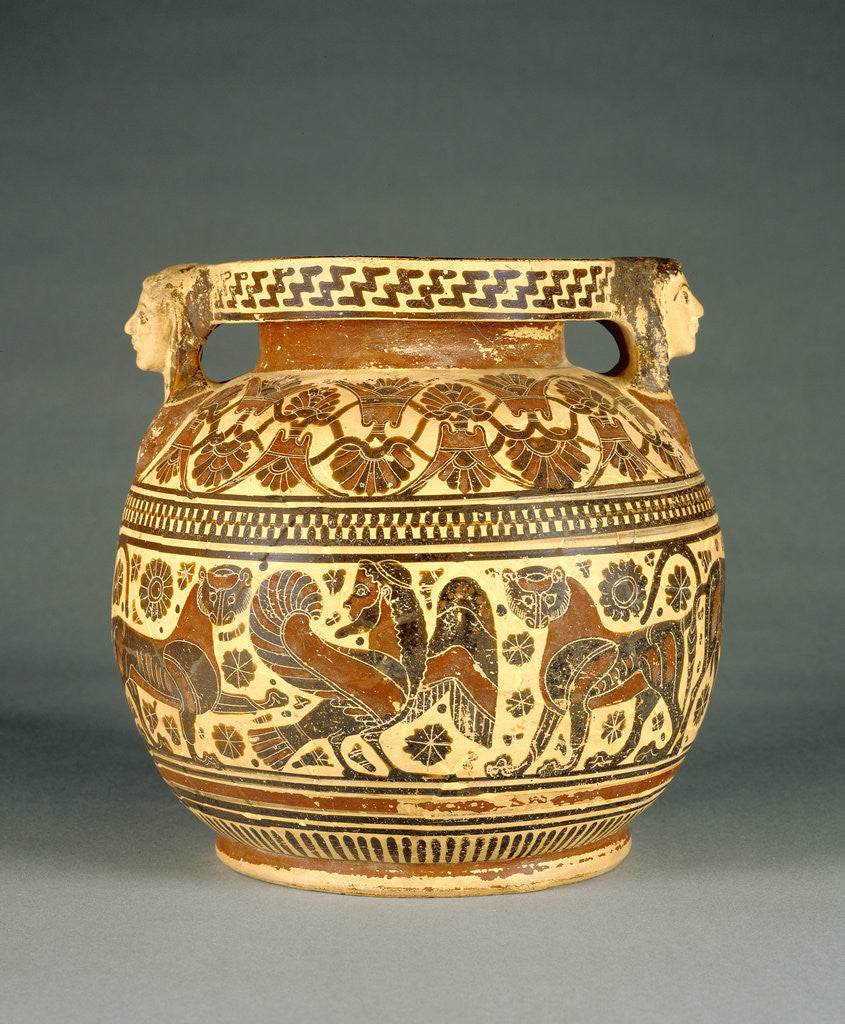 Detail of Corinthian Round-Bodied Pyxis by Anonymous