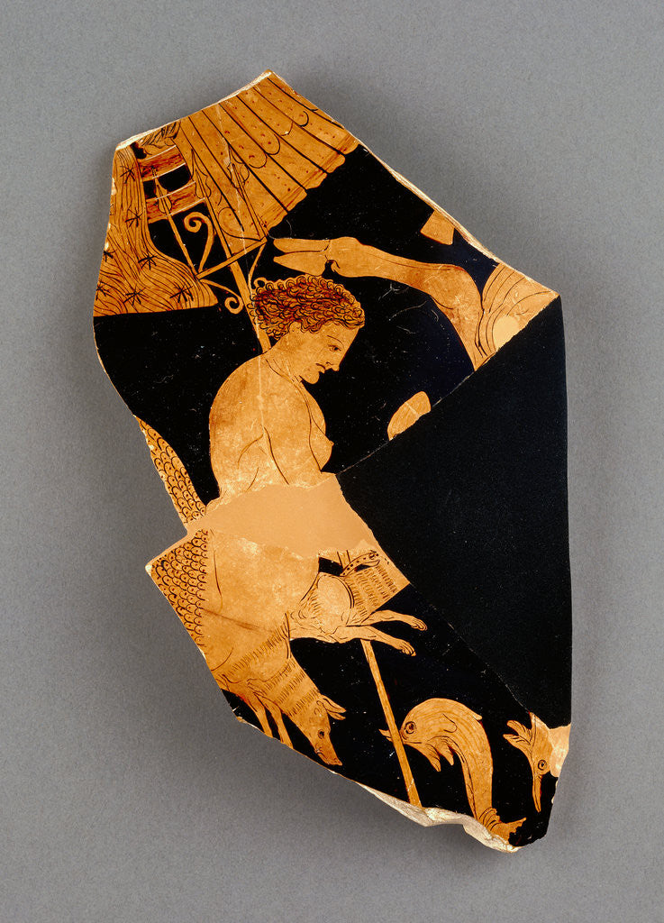 Detail of Fragment of an Apulian Red-Figure Bell Krater by Black Fury Group