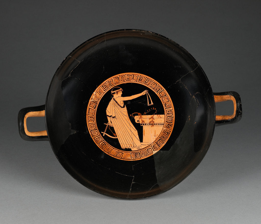 Detail of Attic Red-Figure Cup by Brygos Painter
