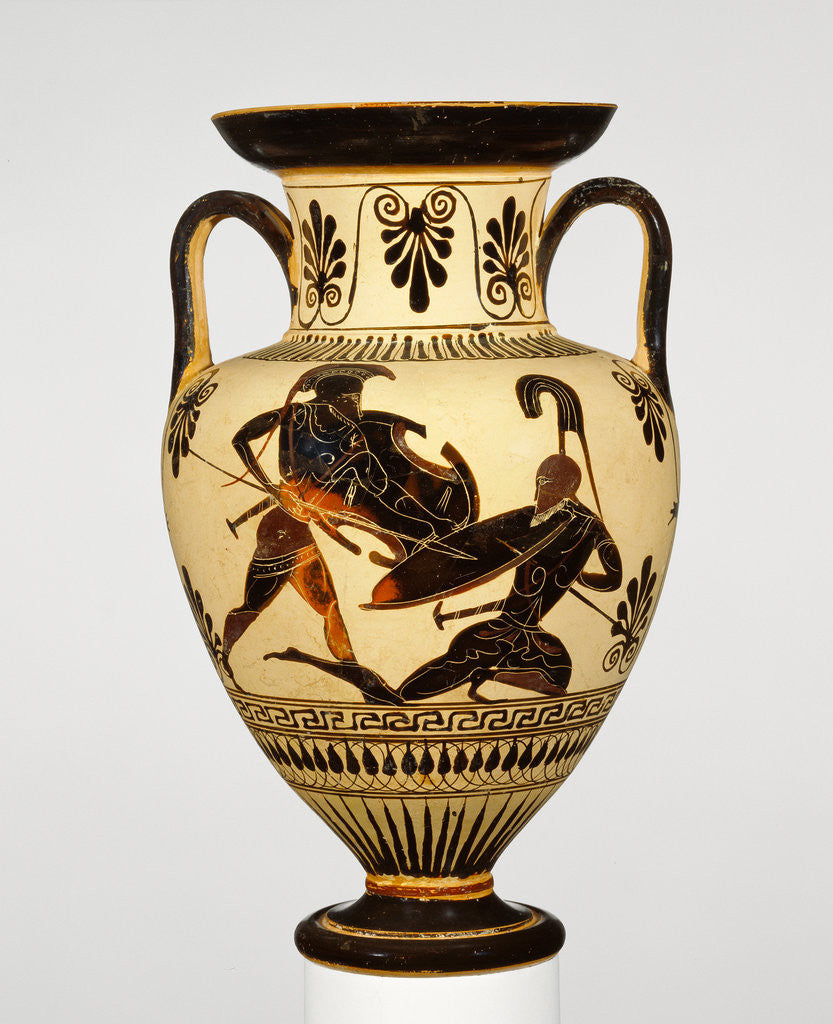 Detail of Attic Black-Figure Neck Amphora by Anonymous