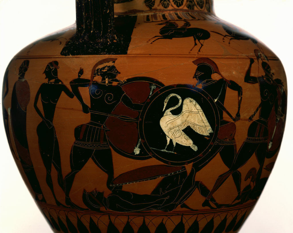 Detail of Attic Black-Figure Neck Amphora by Painter of London