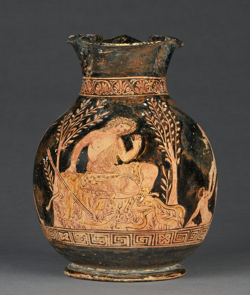 Detail of Apulian Red-Figure Chous (Shape 3) by near the Black Fury Group