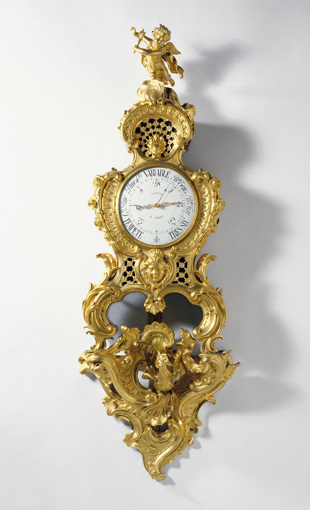 Detail of Barometer on Bracket by Charles Cressent