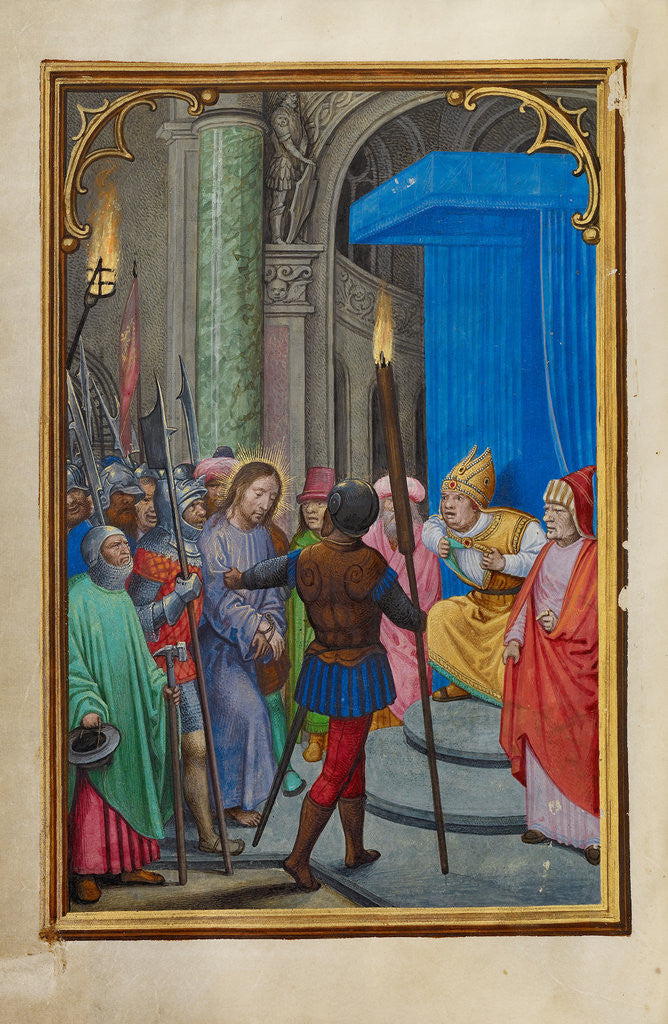 Detail of Christ before Caiaphas by Simon Bening